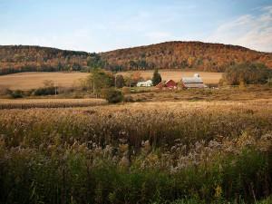A farm near the town of Dryden in New York. Dryden won its precedent-setting fracking ban case one year ago tomorrow.