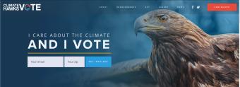 climatehawkshomepage screenshot