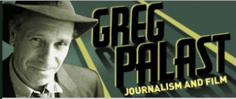 Greg Palast Journalism and Film Logo